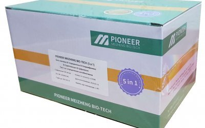 PionerProdukt / ПионерПродукт - PIONEER MEIZHENG BIO-TECH (5in1) JC0586 - 5-in-1 antibiotic tests / Express tests for the determination of residual quantities of β-lactams, tetracyclines and cephalexin in milk, whey and milk serum