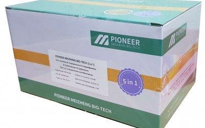 PionerProdukt / ПионерПродукт - PIONEER MEIZHENG BIO-TECH (5in1) JC0586 - Тесты на антибиотики 5 в 1 / Экспресс-тесты для определения остаточного количества  β-лактамов, тетрациклинов и цефалексина в молоке, молочной сыворотке